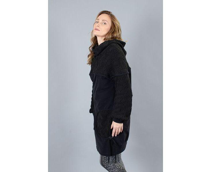Oversize пуловер- туника - M-Black