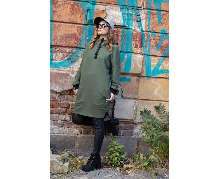 Oversize пуловер - M-Green